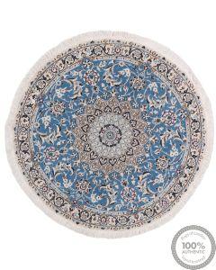 Nain 9La circular rug with silk highlights - 3'64 x 3'64