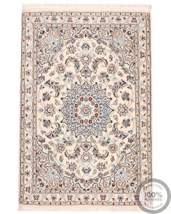 Fine Nain Persian Rug with Silk highlights - 9La