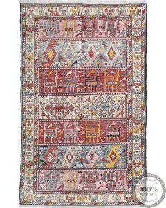 Persian Silk Verni Kilim 6'4 x 3'9