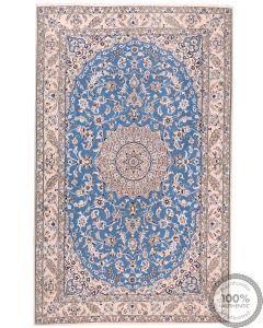 Persian Nain rug with silk higlights