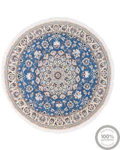 Nain Circular 9La rug with silk highlights - 3'94 x 3'94