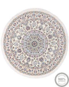 Nain 9La Circular rug with silk highlights - 3'77 x 3'77