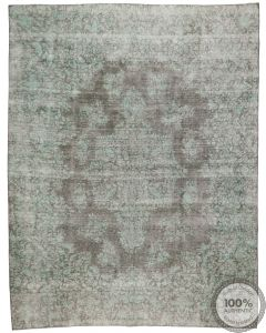 Vintage Overdyed Rugs With Light Green