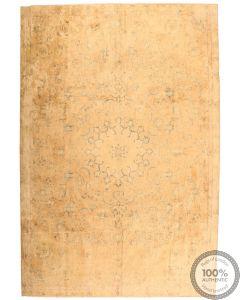 Persian Kerman Vintage Rug - Cream / Beige - front view