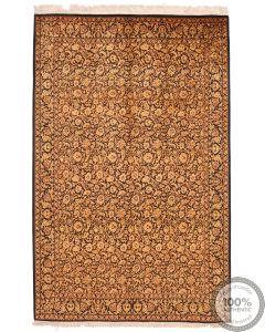 Persian fine Qum 100% Silk Rug - 7'7 x 5
