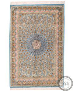 Persian fine Qum 100% silk - 6'6 x 4'3