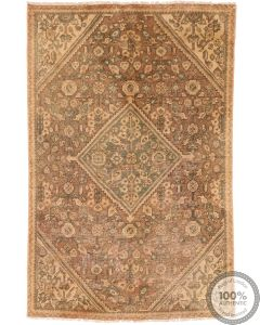 Tabriz Vintage Rug - Beige & Light Brown - front view