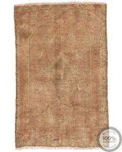 Tabriz Vintage Rug - Rusty Beige - front view