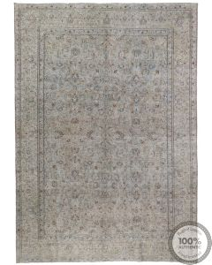 Grey and Blue Distressed Rug