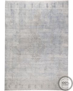 Kerman Blue Distressed Vintage Rug - front