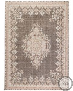 Brown Distressed Vintage Rug  - front