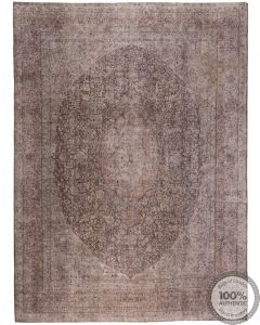 Brown Stone wash Vintage Rug - front