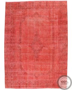 Vintage Red Overdyed Rug