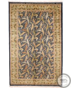 Tabriz Pure silk leaf designs
