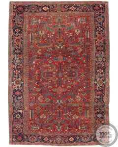 Persian Kerman Vintage Rug - Beige / Brown - front view