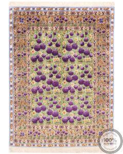 Tabriz Pure Silk -  Purple Tulips front