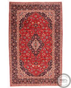 Persian Kashan / Keshan Rug Red - 10'4 X 6'5
