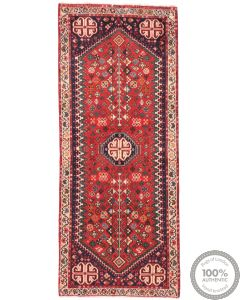Persian Abadeh rug red - 4'9 x 2'