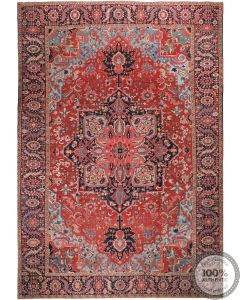 Persian Heriz Rug Circa 1900 - 16'1 x 15'2