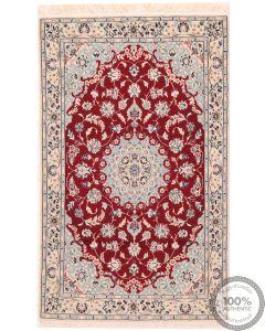 Persian Nain with silk highlight - 3'8 x 2'3