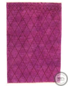 Modern Diamond Design Rug - Front