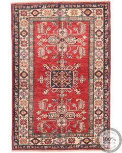 Caucasian Kazak design rug red 4'5 x 3