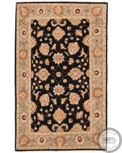 Garous / Ziegler design Rug - Black & Orange 6 x 4