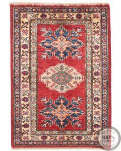 Caucasian Kazak rug - Red & Deep Blue 2'7 x 2