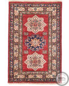 Caucasian Kazak design rug Red  2'7 x 1'9