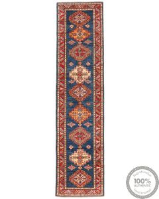 Caucasian Kazak Design Runner rug 10 x 2'4