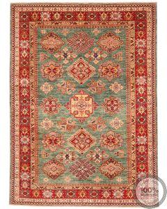 Caucasian Kazak design rug light green - 7'64 x 5'61