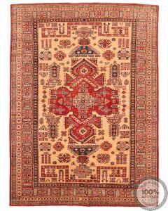 Caucasian Kazak design rug beige 7'68 x 5'64