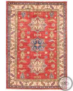 Caucasian Kazak design rug Red - 5 x 3'5