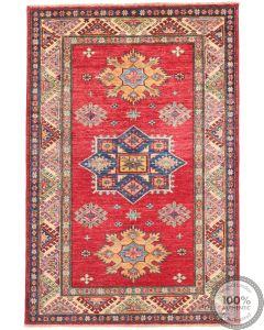 Caucasian Kazak design rug Red 5 x 3'3