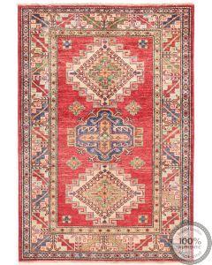 Caucasian Kazak design rug Red - 4'7 x 3'3