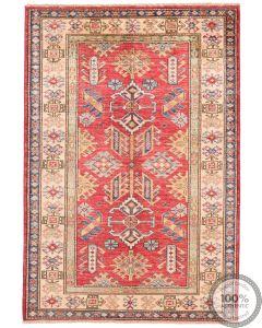 Caucasian Kazak design rug Red  4'8 x 3'3