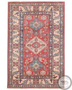 Caucasian Kazak design rug Red  5'2 x 3'4