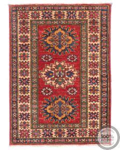 Caucasian Kazak design rug Red 2'8 x 2