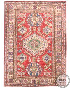 Caucasian Kazak design rug Red - 4'7 x 3'5