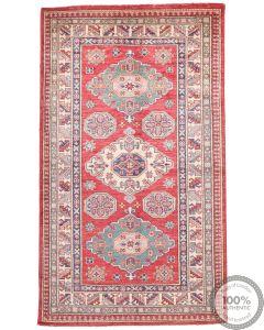 Caucasian Kazak design rug Red  5'1 x 3