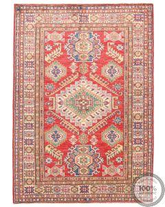 Caucasian Kazak design rug Red  4'7 x 3'2