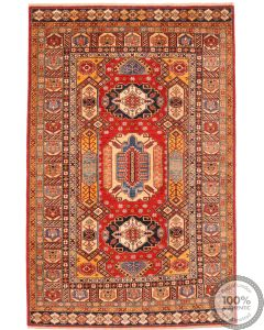 Caucasian Kazak design rug red 9'32 x 5'97