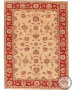 Garous Ziegler design rug - Red border 7'9 x 5'7