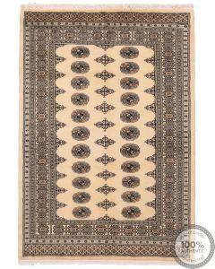 Bokhara design rug beige - 6'1 x 4'3