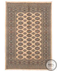 Bokhara design rug beige - 6'1 x 4'2