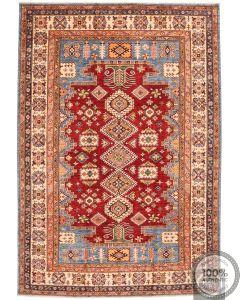 Caucasian Kazak design rug - red & Blue
