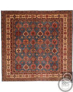 Caucasian Kazak Square Design rug in Blue