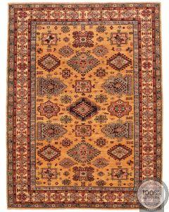 Caucasian Kazak design rug yellow