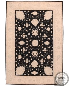 Garous / Ziegler Design Rug - Black 9'6 x 6'5