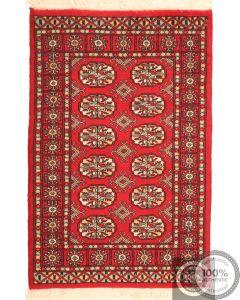 Bokhara design rug red